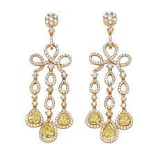 diamond earrings on sale an pair of white and fancy color diamond earrings for sale