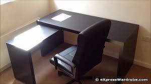 office table dimensions ikea malm home office desk with pull out panel youtube