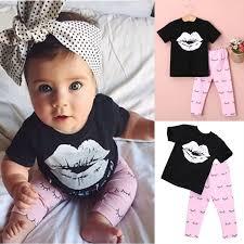 baby lip t shirt clothes set babyy gul