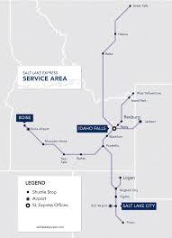 Salt Lake City Map Official Map Salt Lake Express Shuttle Bus Transit Maps