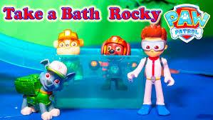 paw patrol nickelodeon paw patrol bath rocky paw patrol