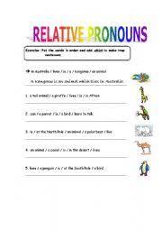 english teaching worksheets relative pronouns