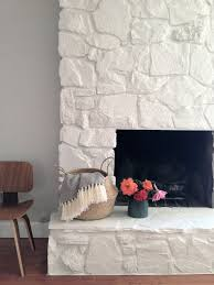 how to painting the stone fireplace white u2013 greige design