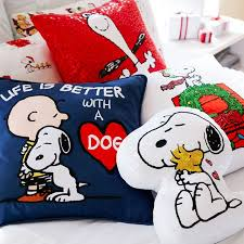 Snoopy Nursery Decor Peanuts Snoopy Pillow Cover Pbteen