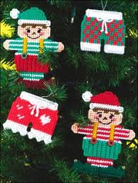plastic canvas special occasions christmas ornaments teddy