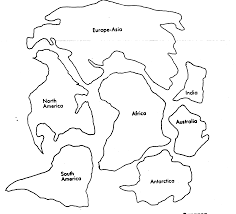 cut out continents coloring page arterey info