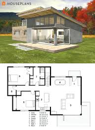 small modern cabin house plan by freegreensmall ultra floor plans