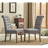 amazon com upholstered chairs kitchen u0026 dining room furniture