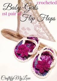 crochet worlds cutest baby flip flops free pattern craftify my