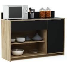 desserte cuisine en bois meuble desserte en bois 1 porte 1 tiroir et 2 niches l123 x h85 x