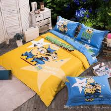 Spongebob Bedding Sets 100 Cotton Bedding Set Printing Minions Bed Clothes Baby