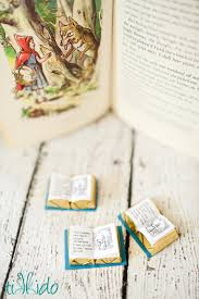 miniature chocolate red riding hood book favor free