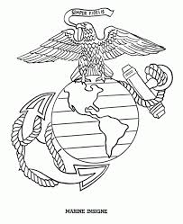 marine corps coloring pictures coloring page cartoon
