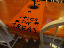 trick or treat table runner halloween party table decorations