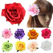 flower hair accessories aliexpress buy flocking cloth flower hair clip