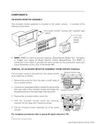 bmw 3 series 2000 e46 on board monitor system workshop manual