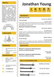 infographic resume templates yellow infographic resume template vista resume