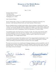 congressional letter to president obama calls for the resignation