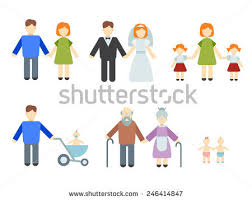 illustrated infographics on theme family stock vector