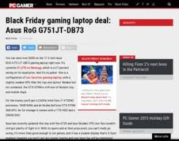 black friday gaming laptop asus black friday gaming laptop deal asus rog g751jt db73
