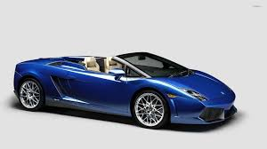 Lamborghini Murcielago Blue - front side view of a blue lamborghini gallardo wallpaper car
