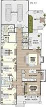 long narrow house with possible open floor plan for the home