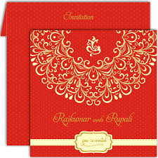 hindu wedding invitations designer ganesha hindu wedding card kh 007