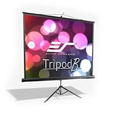 projection screens amazon com amazon com elite screens tripod b 85 inch multi aspect ratio