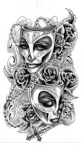 image result for comedy tragedy masks tattoo designs tat ideas