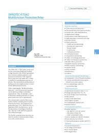 7sj62 manual pdf relay transformer