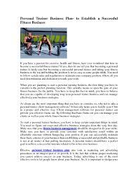 business plan fitness