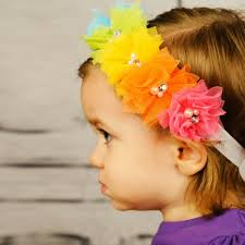 toddler hair accessories rainbow color flowers headband children baby hair