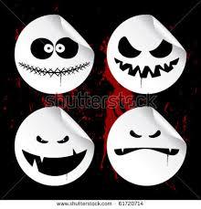 monster smileys on blood background set stock vector 83710561