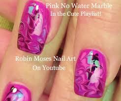 robin moses nail art black and white no water marble
