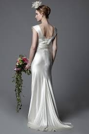 vintage inspired wedding dresses eddie 1920 s vintage inspired style silk satin bias cut wedding