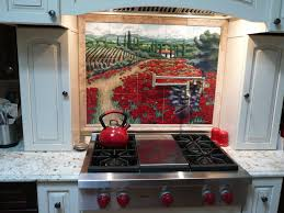 Red Backsplash Kitchen Decorations Amazing Ideas Of Tile Murals Kitchen Backsplashes