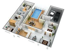 3d floor plan software free home plan 3d lofty inspiration single floor home design plans 3