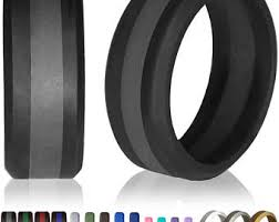 rubber wedding rings rubber wedding band etsy