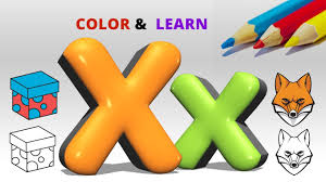 coloring letter x