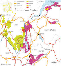Annecy France Map by France Map Of Vineyards Wine Regions