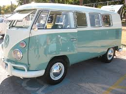 volkswagen van front view mint green and white two tone 1963 vw bus in fort worth tx