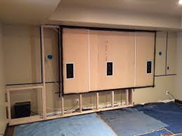 home theater projector screens flush mount projector screen great furniture references