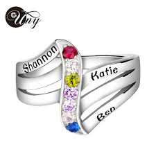 customized mothers rings aliexpress buy uny ring 925 sterling silver rings