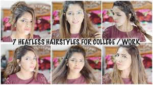 heatless hair styles college late fast easy heatless hairstyles for school college