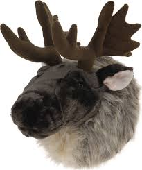 Christmas Deer Head Decorations by Wall Mounted Reindeer Head Decoration Stag Ornament Deer Antler