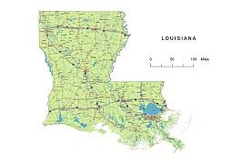 louisiana highway map preview of louisiana state vector road map