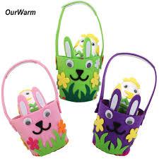 easter decoration ourwarm easter decoration easter egg hunt basket handmade felt diy