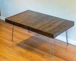 rectangular wood hairpin coffee table hairpin coffee table etsy