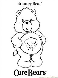 grumpy bear coloring pages free printable coloring pages free