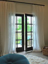 curtain rod above french doors